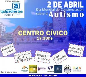 El 2 de abril, Bariloche se viste de azul