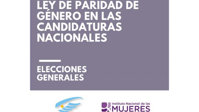 Informe del monitoreo de la Ley de Paridad en las candidaturas nacionales