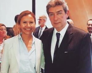 La Defensora del Pueblo de Bariloche, la Dra. Beatriz Oñate, junto al Dr. Horacio Rosatti, miembro de la Corte Suprema de Justicia de la Nación