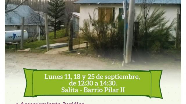 La Defensoría Itinerante estará en el Barrio Pilar II