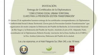 Viernes 23/ 9: Entrega de certificados de la Diplomatura