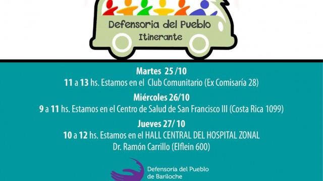 Esta semana estaremos atendiendo en el Club Comunictario, san Francisco III y en el Hall del Hospital Zonal