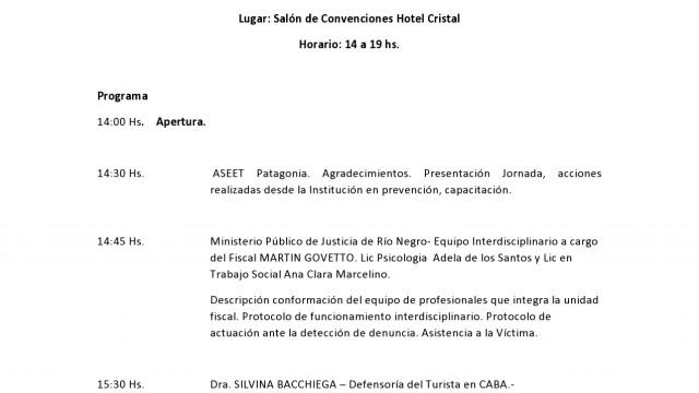 """Programa de Jornada de """"Protección de los Derechos de Niñas, Niños y Adolescentes en Viajes y Turismo"""""""