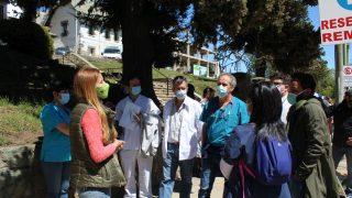 La Defensora del Pueblo de Bariloche acompañó el reclamo de trabajadoras y trabajadores de la Salud
