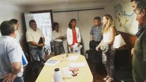 La Defensora del Pueblo de Bariloche, Dra. Beatriz Oñate, con representantes del Foro del Este, ARSA y del DPA