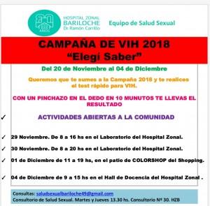 """Se trata de la campaña de lucha contra el VIH 2018 que impulsan desde el Hospital Zonal """"Ramón Carrillo"""""""