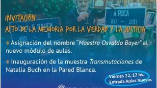 """Cronograma de actividades que se desarrollan en el marco """"Día Nacional de la Memoria por la Verdad y la Justicia"""""""