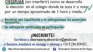 [Hasta mañana] Inscripciones abiertas para ser parte del equipo de voluntarios del Observatorio Electoral