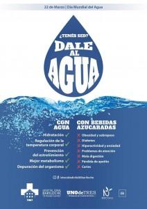 Campaña Dale al Agua (afiche enviado por el Grupo de Obesidad Infantil Bariloche)