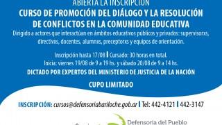 Curso de promoción de resolución de conflictos en la comunidad educativa