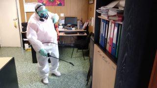 Prevención | Realizaron trabajos de desinfección en instalaciones de la Defensoría del Pueblo de Bariloche
