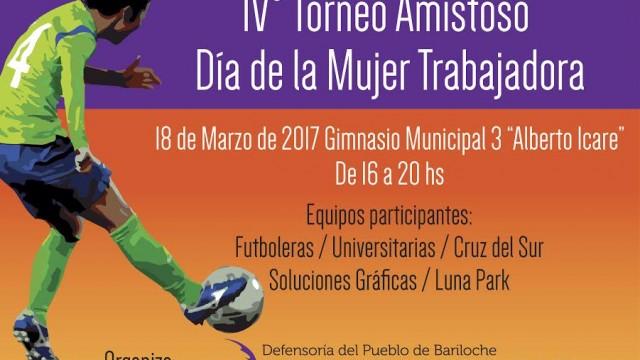 """Te invitamos al IV Torneo de Fútbol """"Día de la Mujer"""""""