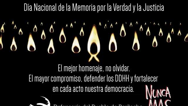La Defensoría del Pueblo de Bariloche invita a conmemorar el Día de la Memoria