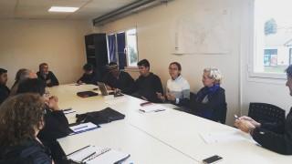 Mesa de trabajo con el fin de avanzar en las gestiones respecto a la limpieza del predio ubicado sobre Pasaje Gutiérrez