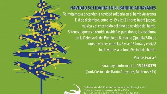 Navidad solidaria en el Barrio Arrayanes