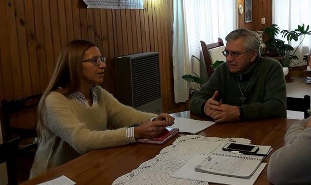 Defensora del Pueblo y el Obispo de Bariloche dialogaron sobre diferentes temáticas