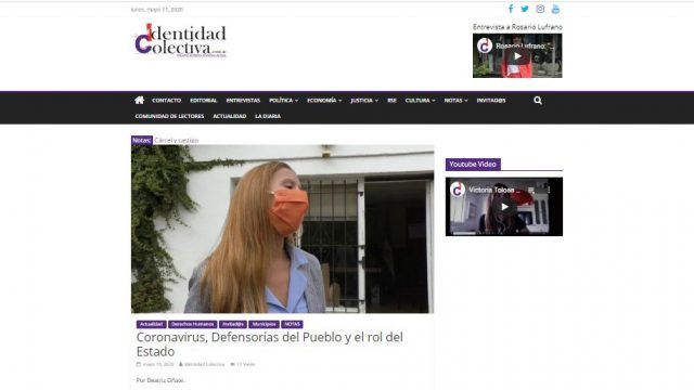 """""""Coronavirus, Defensorías del Pueblo y el rol del Estado"""""""
