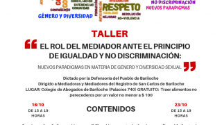"""Inscriben en taller sobre """"El rol del Mediador ante el principio de igualdad y no discriminación: Nuevos paradigmas en materia de género y diversidad sexual"""""""