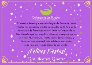 Saludo de Fin de Año de la Defensoría del Pueblo de Bariloche