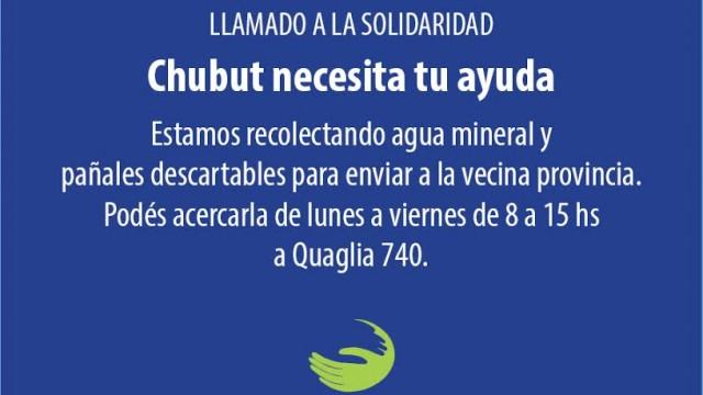 Ayuda para  los damnificados de Chubut